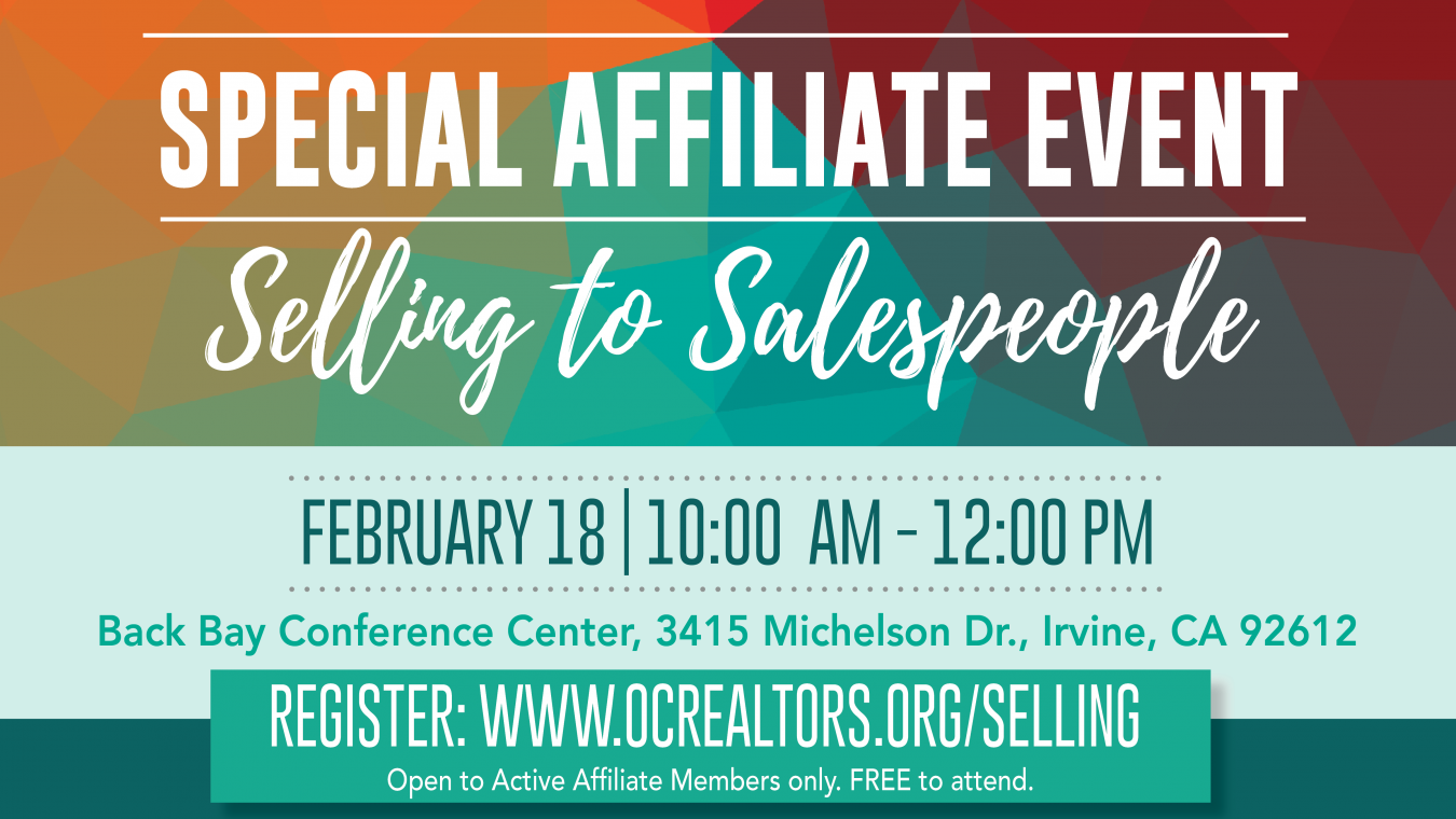 Special Affiliate Event: Selling to Salespeople