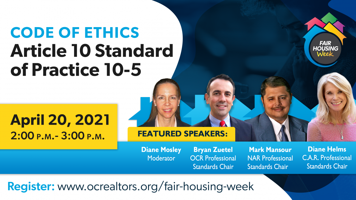 Code of Ethics Article 10 Standard of Practice 10-5, April 20 2-3pm